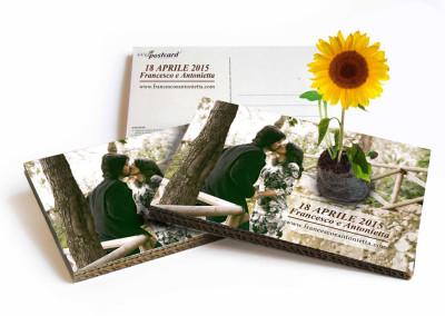 Eco-Postcard bomboniera ecologica
