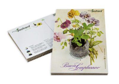 Cartolina ecologica illustrazione vintage