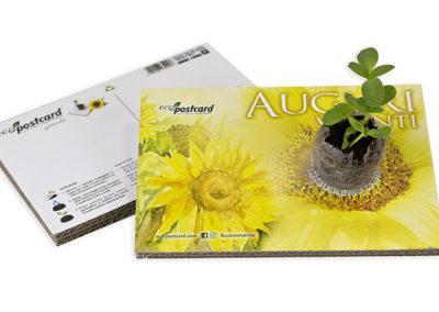 Cartolina ecologica auguri viventi viventi