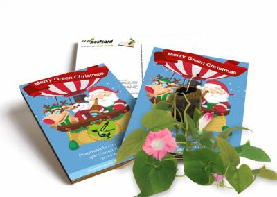 Eco-Postcard cartolina natalizia con semi