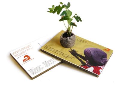Cartolina ecologica sociale per GVC Onlus