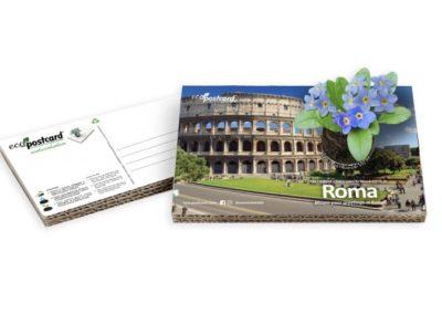 Cartolina turistica ecologica Roma