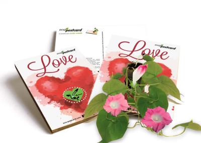 Eco cartolina auguri San Valentino
