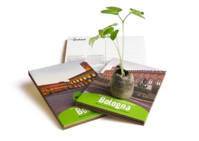 Eco-Postcard cartolina souvenir Bologna