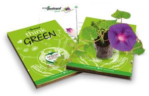 eco-postcard cartolina ecologica think green