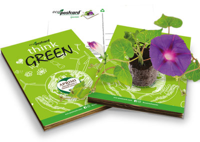 Cartolina ecologica Think Green