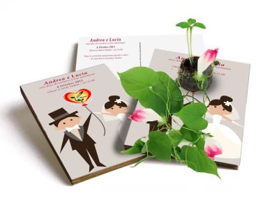 Eco-Postcard partecipazione per matrimonio ecologica