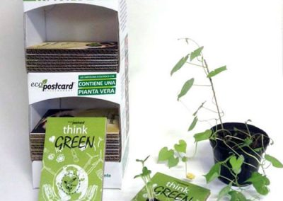 cartoline ecologiche espositore per rivenditori