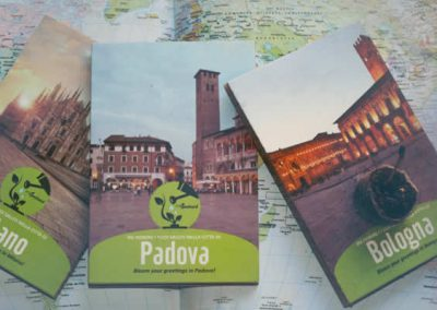 Tourist postcards with seeds