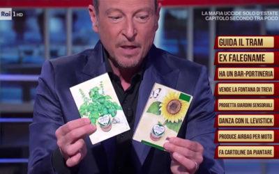 Le cartoline da piantare Eco-Postcard arrivano in televisione