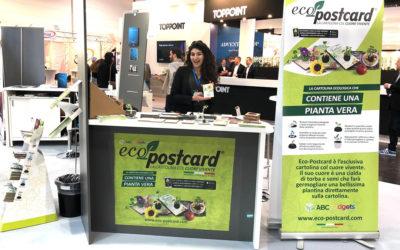 Grande successo per la cartolina ecologica Eco-Postcard® al PSI 2019