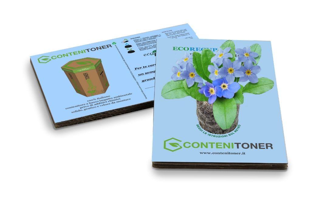 Eco-Postcard® con Ecorecupero per il lancio di ConteniToner