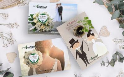 Le partecipazioni di nozze ecologiche che danno vita ad una pianta vera